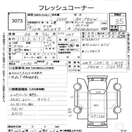 MITSUBISHI DELICA SPACE GEAR ACTIVE FIELD 2006